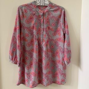 Gap Grace paisley pink and gray tunic